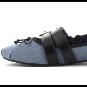 Cape Robbin Shoes - Blue Velour Punk Ballet Flats